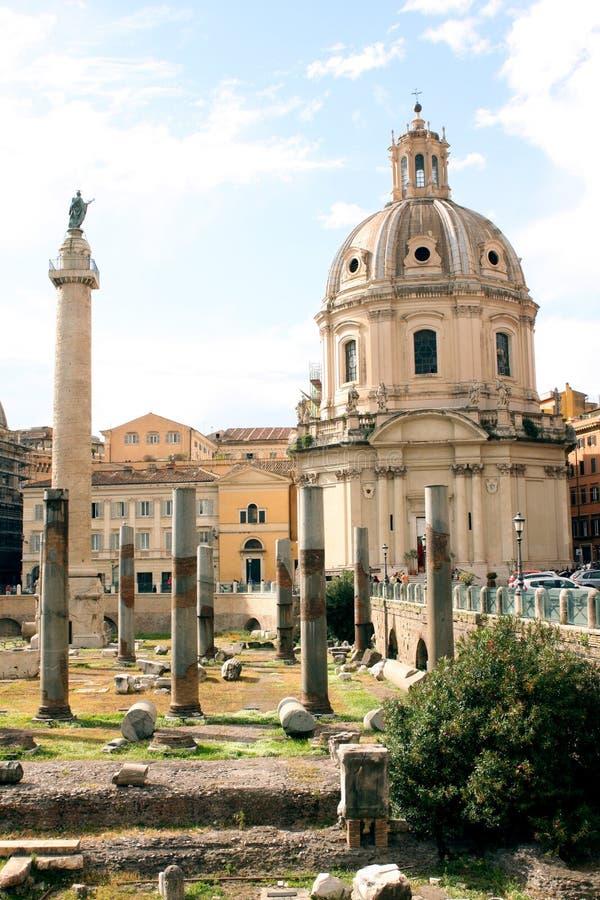 Форум Рима - Италии стоковые фотографии rf