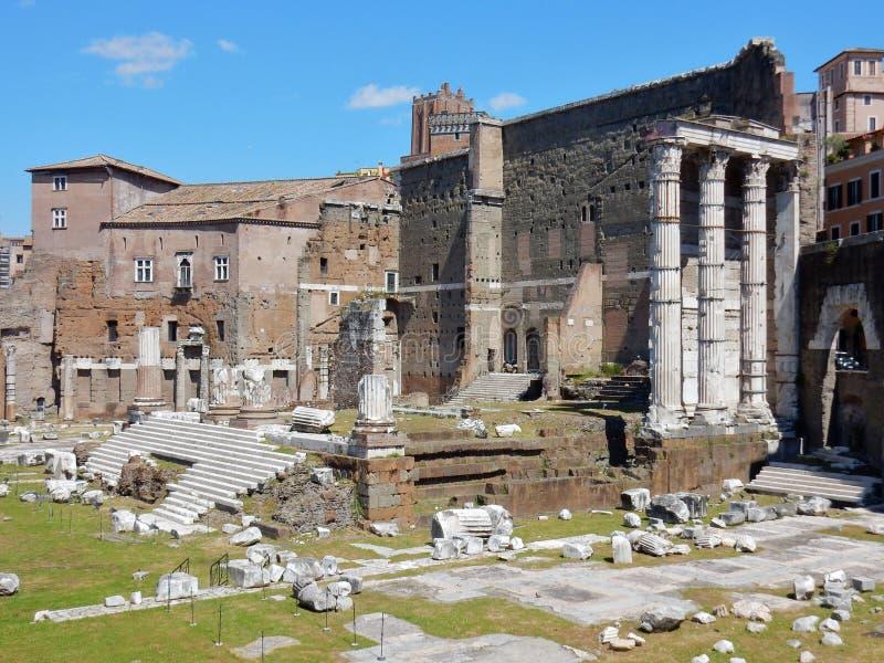 Форум ` Рима - Augustus стоковая фотография rf