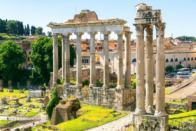 форум римский rome стоковая фотография