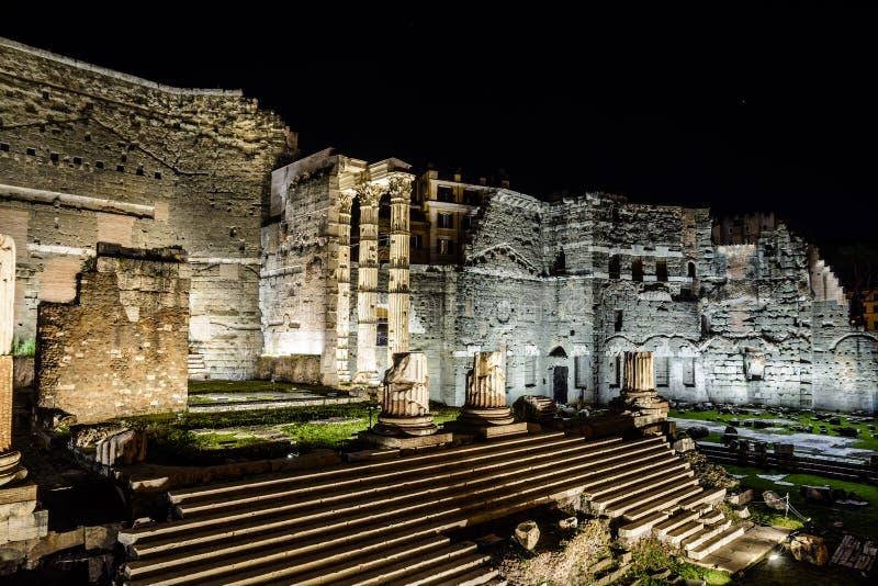 Форум форума в августе римского стоковые изображения