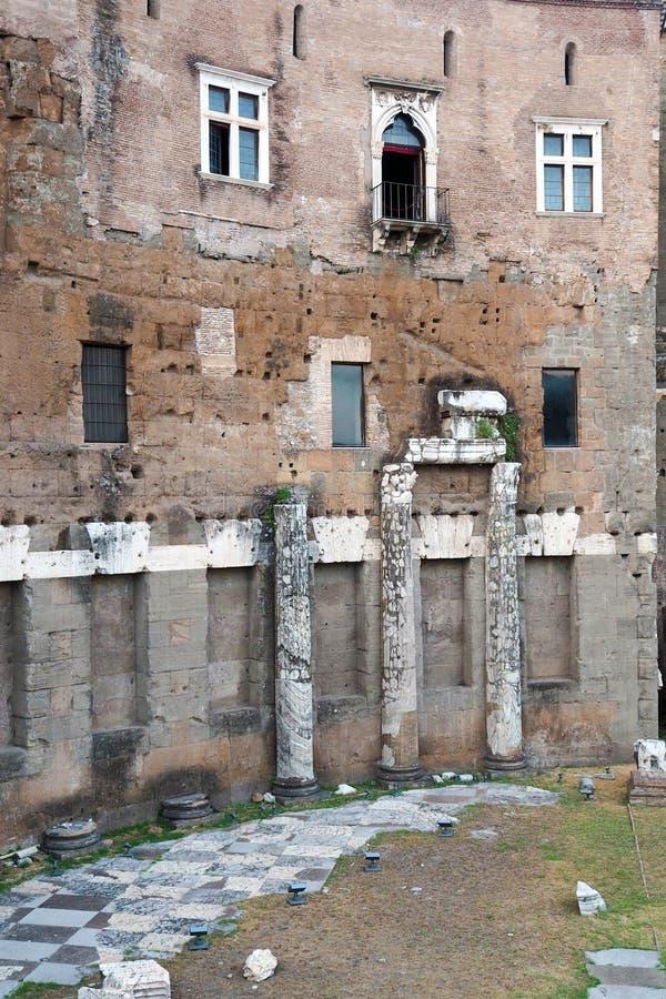 Форум Augustus в Риме, Италии стоковое изображение rf