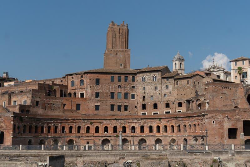 Форум Augustus в Риме, Италии стоковые изображения