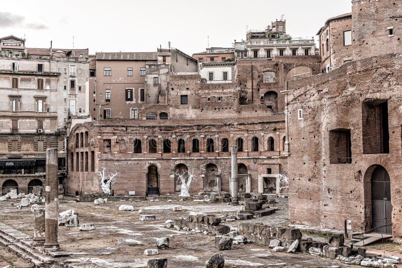 Форум Augustus в Риме на заходе солнца стоковое фото