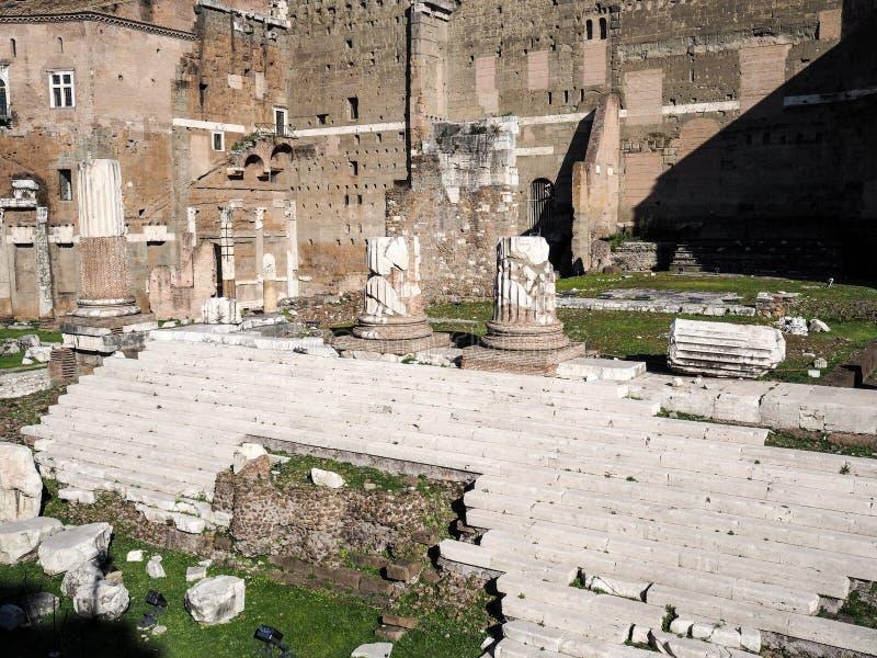 Форум Augustus в Рим стоковое изображение rf