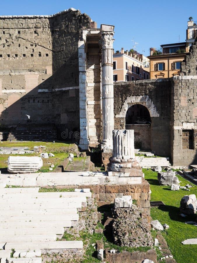 Форум Augustus в Рим стоковые изображения rf
