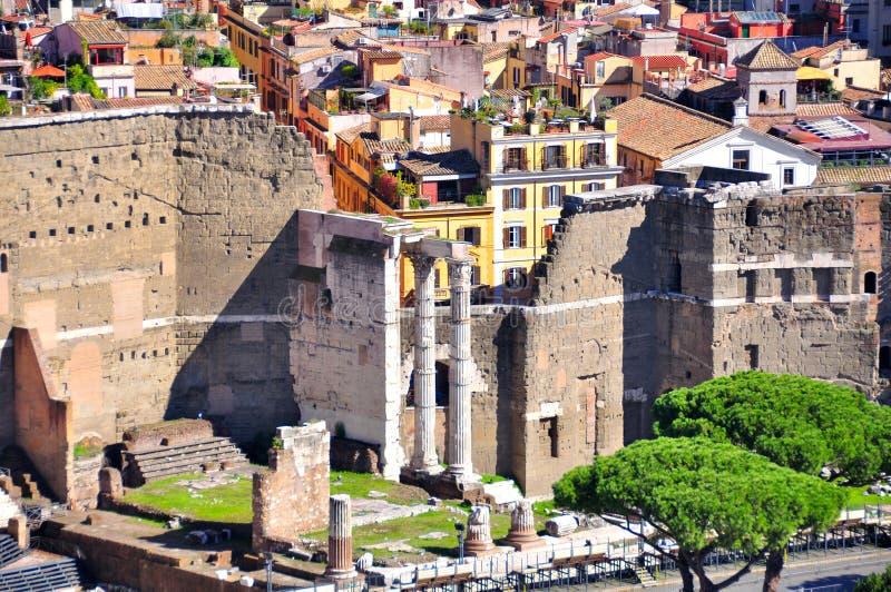 Форум Augustus, Рима Италии стоковые фотографии rf