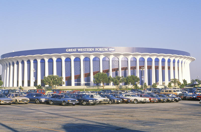 Форум Great Western, дом ЛА Lakers, Inglewood, Калифорнии стоковое изображение