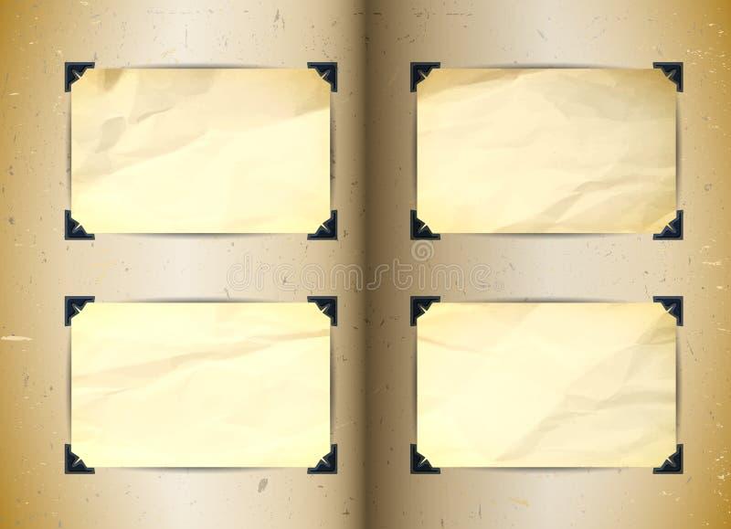 Фотоальбом год сбора винограда иллюстрация вектора