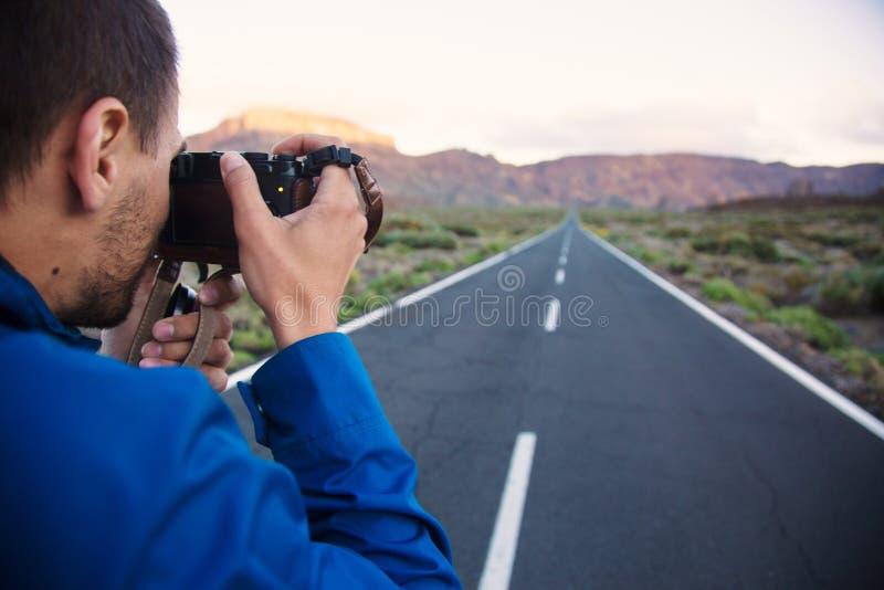 Фотографировать ландшафт дороги стоковое изображение rf