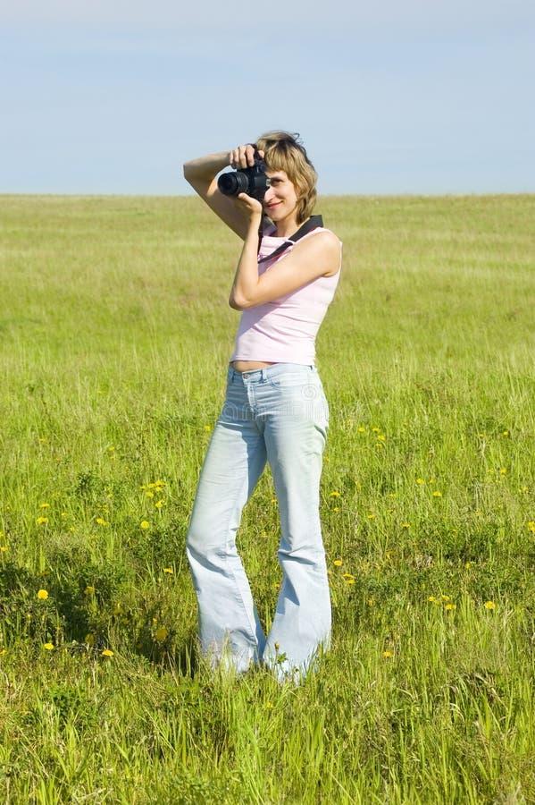 фотографировать женщину стоковые изображения rf