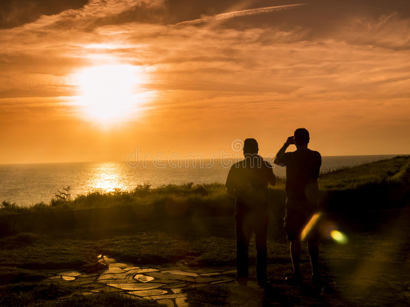 Фотографировать заход солнца II стоковые изображения