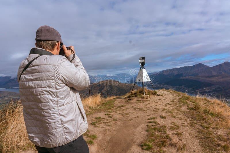 Фотографировать около озера Wakatipu и Queenstown стоковое изображение