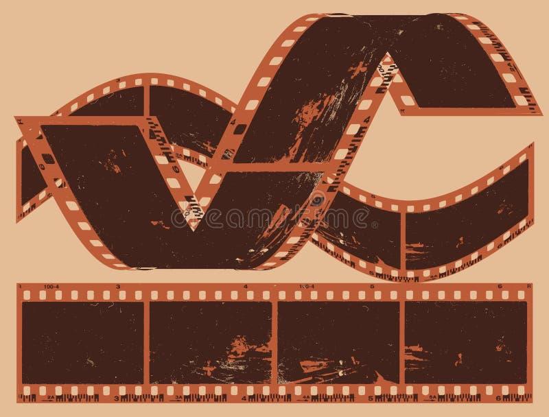 Фотографическая пленка иллюстрация штока