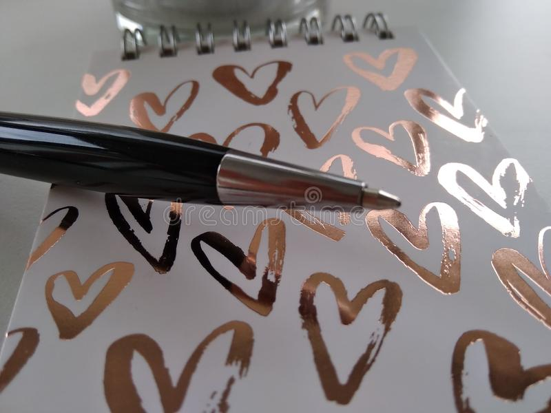 Фотография дела с ручкой и блокнотом стоковое изображение rf