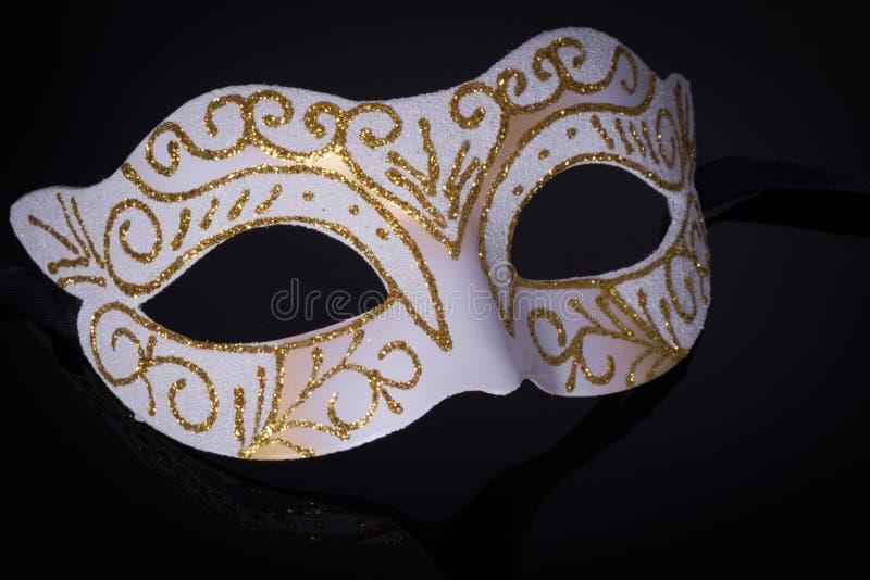 Фотография макроса венецианской маски стоковое изображение