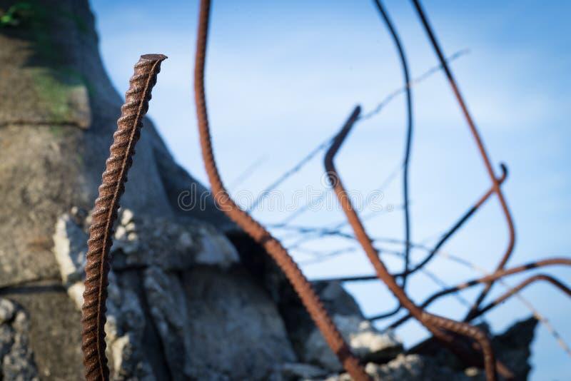Фотография макроса стальных прутов стоковое фото rf