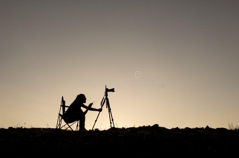 Фотография, репортажно-документальная киносъемка и долгая выдержка стоковые изображения rf