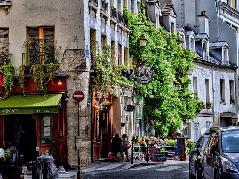 Фотография улицы в Париже, Франции стоковое изображение rf