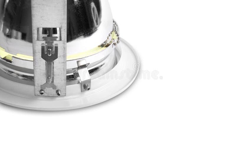 Фотография Downlight продукта освещая конец детали вверх стоковое изображение rf