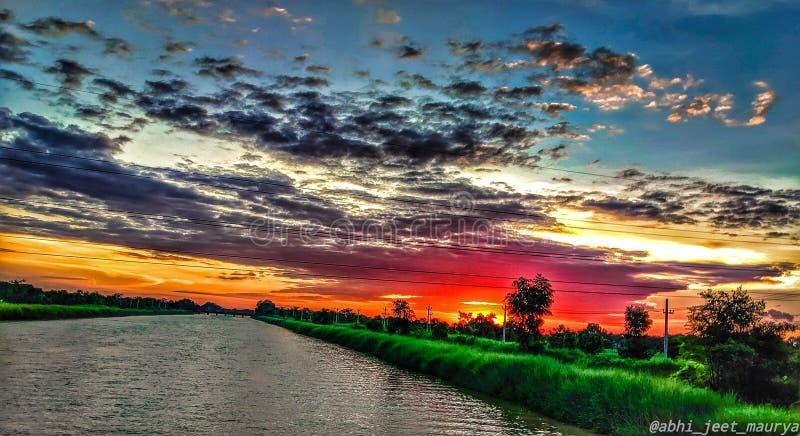 Фотография Sunset стоковое изображение
