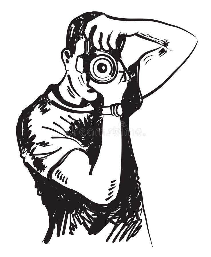 картинка мужчина с фотоаппаратом вектор показать ей, что
