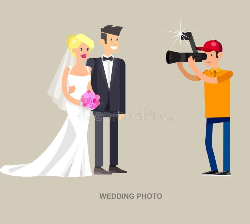 Фотограф и videographer иллюстрация штока