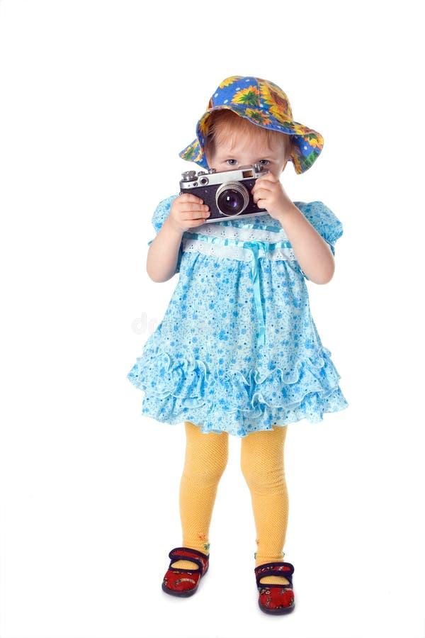 фотограф красотки младенца стоковое фото