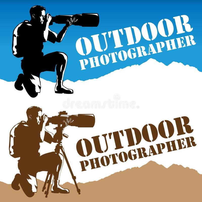 фотограф логоса напольный иллюстрация вектора