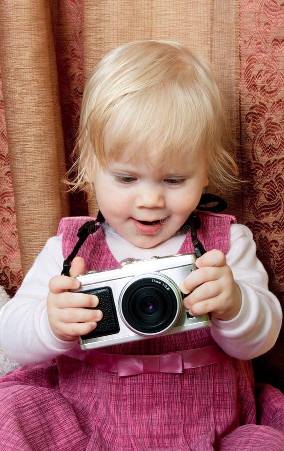 фотограф младенца стоковое изображение rf