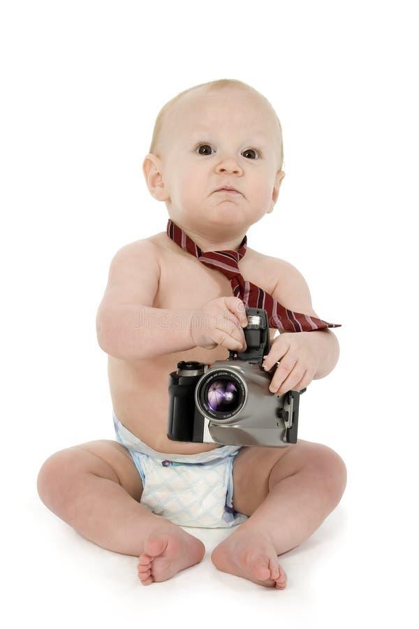 фотограф младенца стоковое фото rf