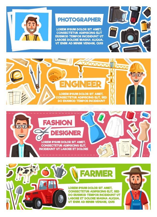 Фотограф, модельер, фермер или инженер бесплатная иллюстрация