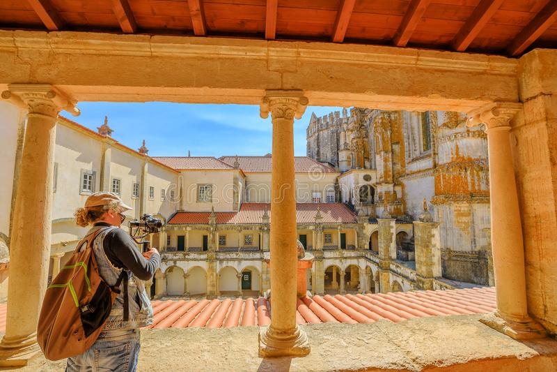 Фотограф на замке Tomar стоковое фото