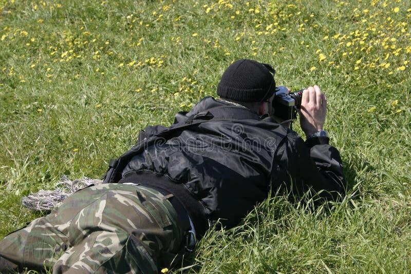 фотограф природы стоковое изображение