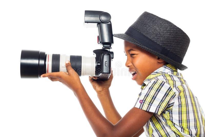 Фотограф ребенка стоковые изображения rf