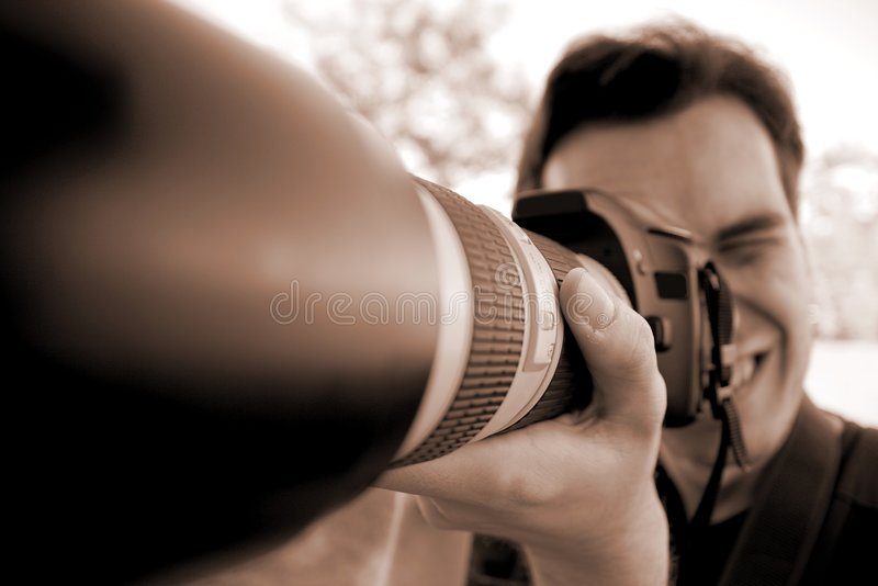 фотограф стоковое изображение