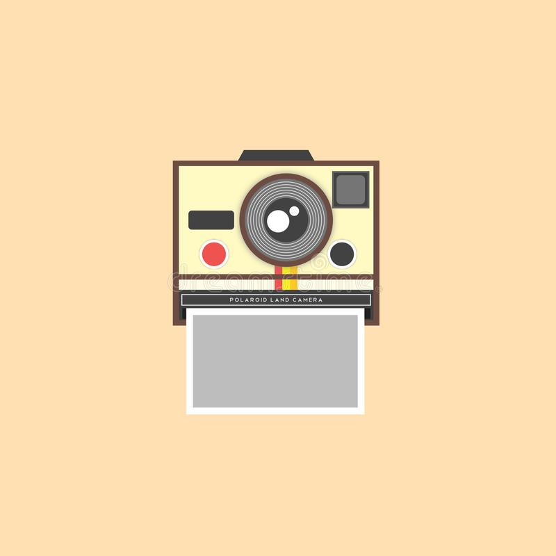 Фотокамера Поляроид иллюстрация штока