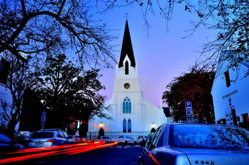 Фотоснимок ночи церков стоковые изображения rf