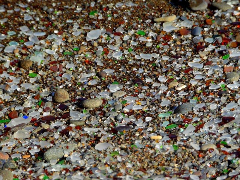 Фотоснимок текстуры предпосылки моря стеклянной стоковое фото rf