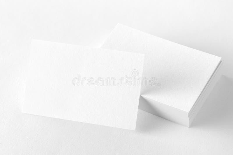 Фото визитных карточек Шаблон для затаврить тождественности изолят стоковая фотография rf