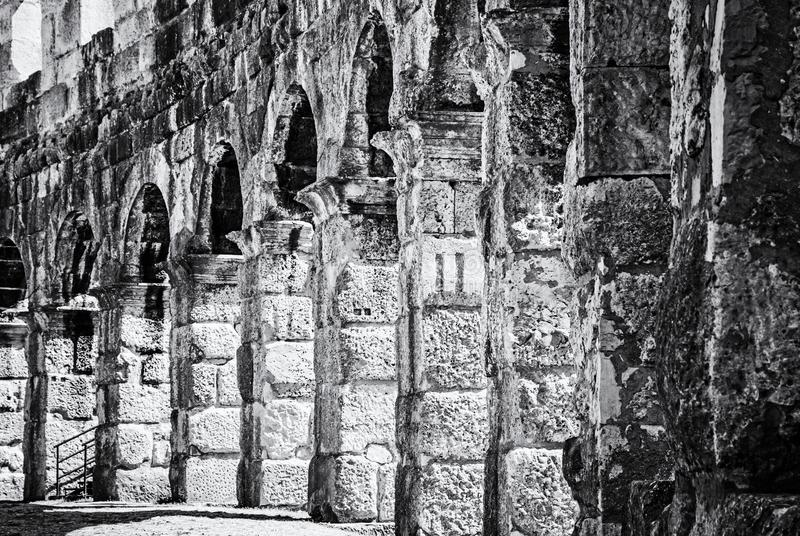 Фото детали арены пул, Istria, Хорватии, бесцветной стоковое фото
