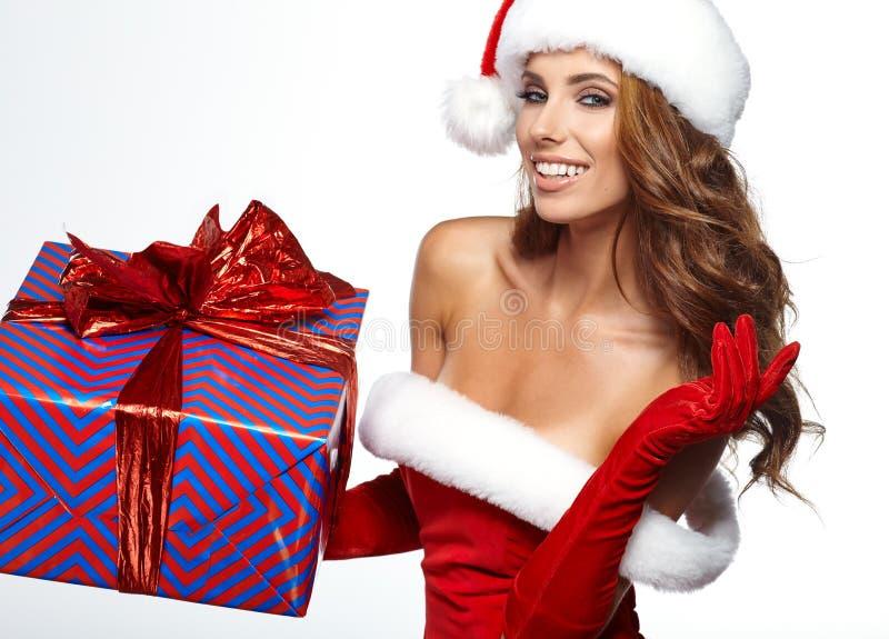 Фото девушки рождества santa стоковые фото