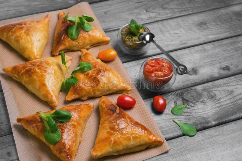 Фото еды Samosa стоковые изображения rf