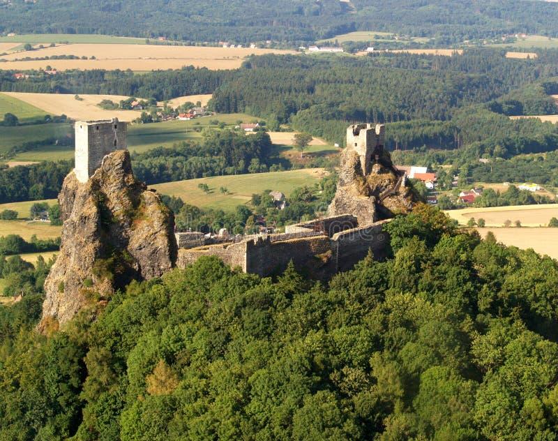 фото замока воздуха trosky стоковое фото
