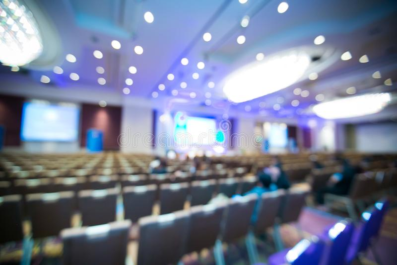 Фото запачканное конспектом конференц-зала стоковая фотография