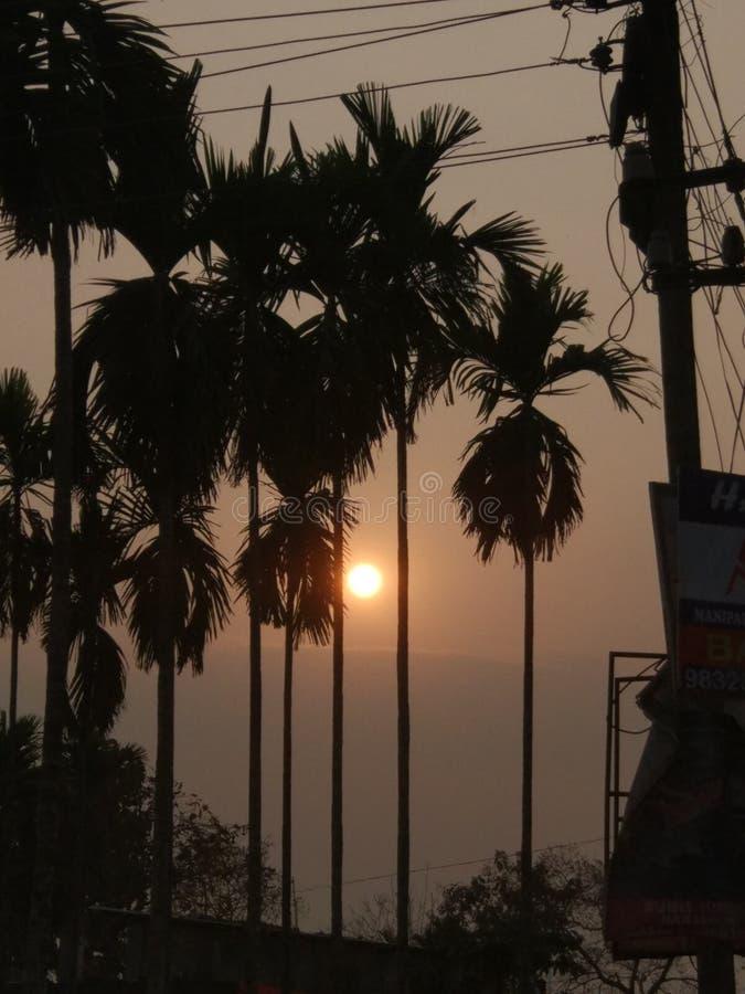Фото захода солнца стоковые фото