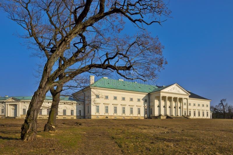 Фото зимы замка Kacina стоковое изображение rf