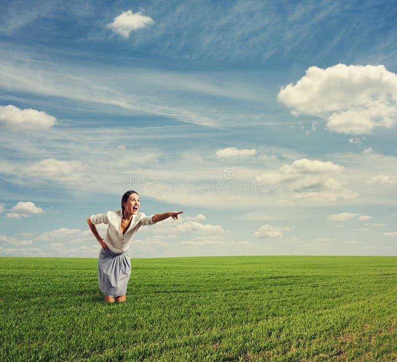 Фото изумленной женщины Стоковые Фотографии RF