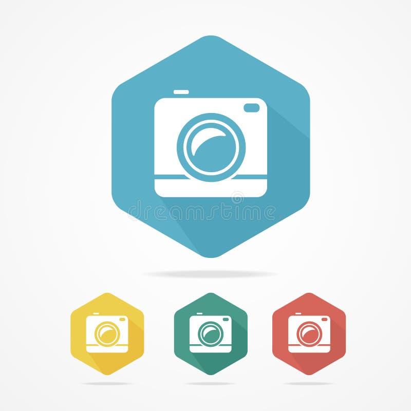 Фото или видеокамера битника Плоский стиль иллюстрация вектора