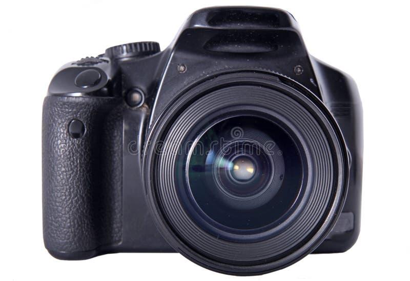 фото 2 камер цифровое изолированное встает на сторону белизна стоковые изображения