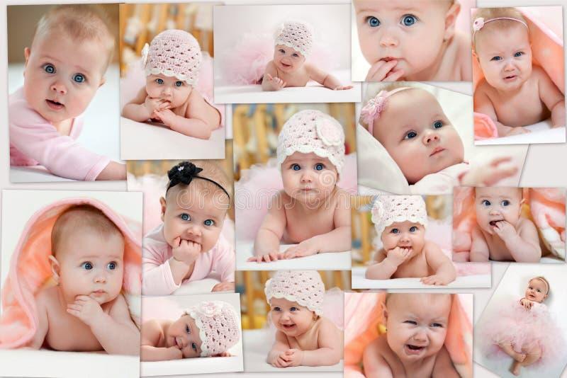 фото коллажа детей различные стоковое фото rf